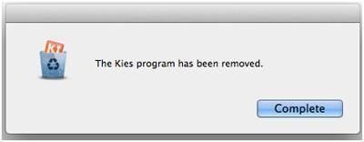 Guía para desinstalar Kies en Mac