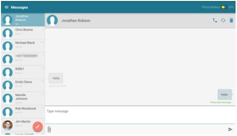 synchroniser les messages texte Android avec les tablettes