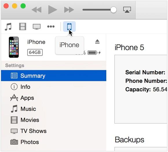 synchroniser les messages texte de l'iPhone avec iTunes