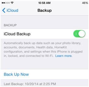 comment synchroniser des messages texte iPhone avec iCloud