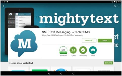 étapes pour synchroniser les messages texte d'Android vers les tablettes