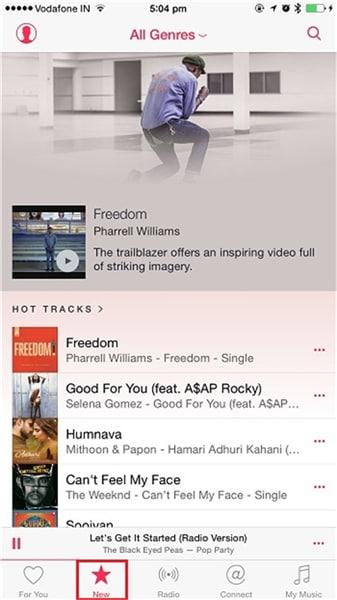Transfert de musique android vers iphone