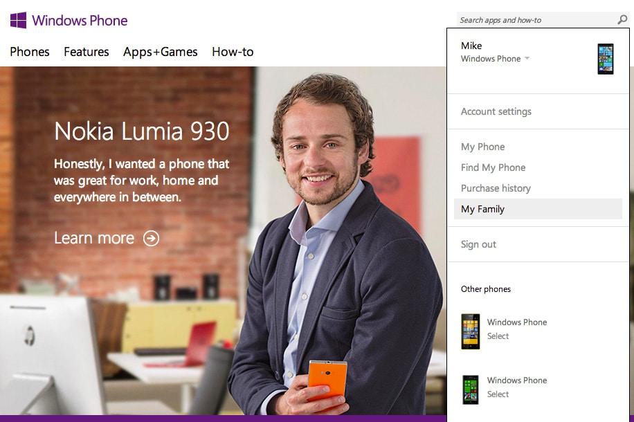 Windows Phone Family Einrichten