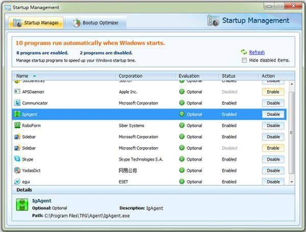 windows 7 startup management
