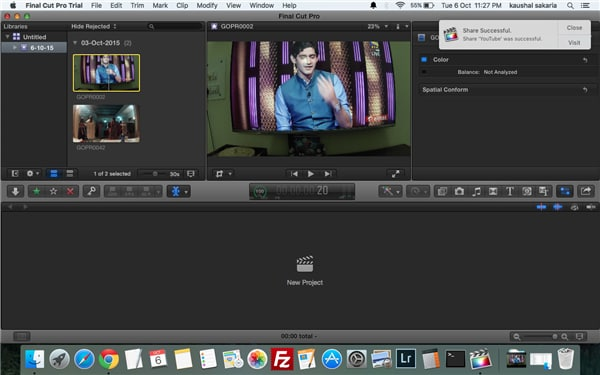 How to export videos from final cut pro on Mac