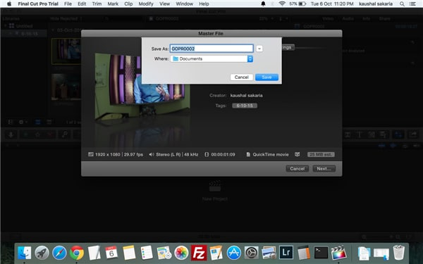 So exportieren Sie Videos aus Final Cut Pro auf Mac