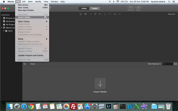 How to import avi to imovie
