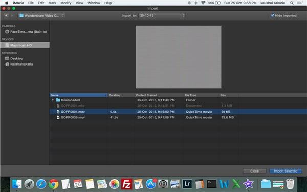 how to open avi files on imovie