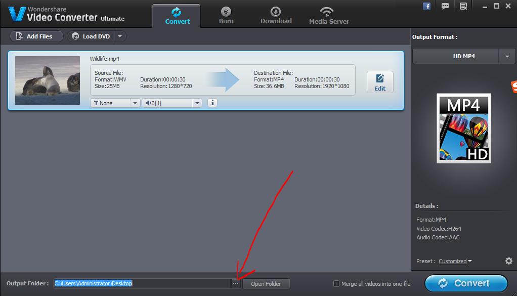 4k to 1080p output folder