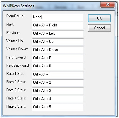 WMP keys plug-in