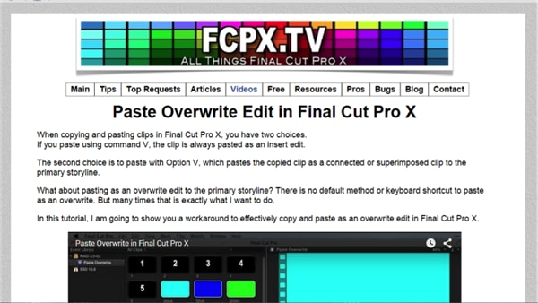 15 Final Cut Pro X Tutorial and Training Websites