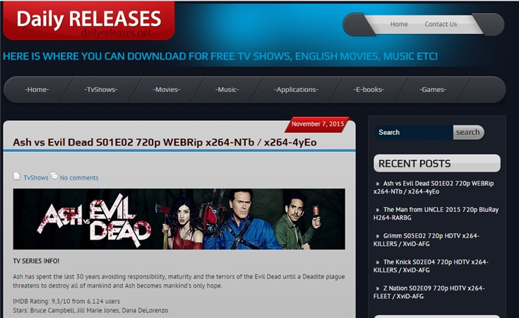 where can i download free movies and tv series