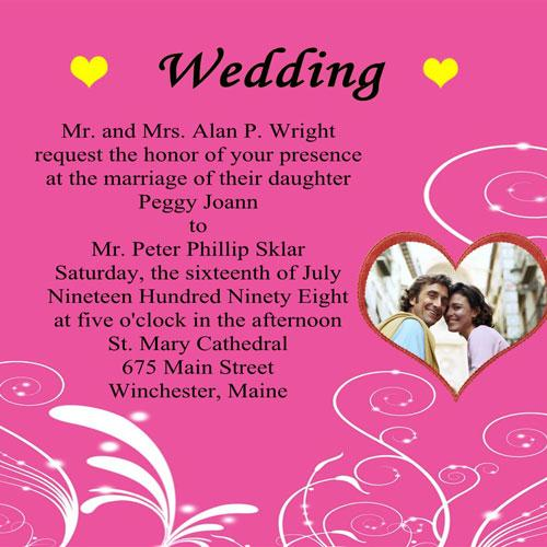 Personal Wedding Invitation Matter For Friends is good invitations layout