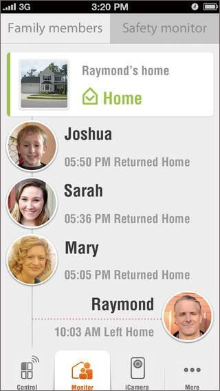 iphone home security camera-iSmartAlarm