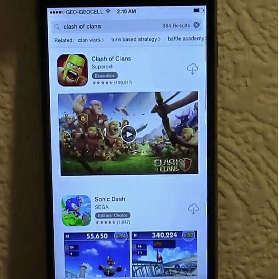 download clash of clans on iphone or ipad