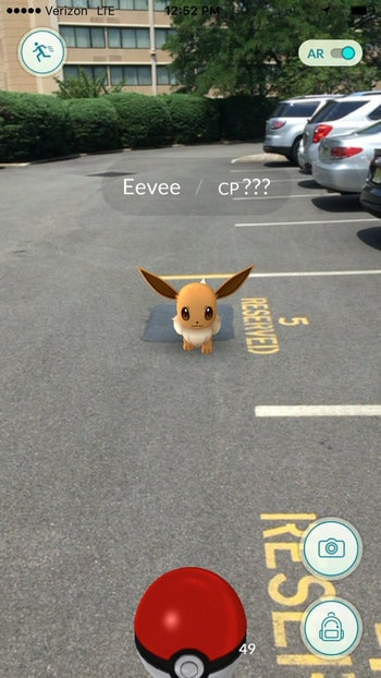 Catch Pokémon in Parking Lots