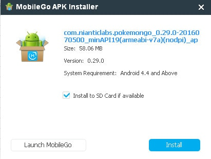 install pokémon GO apk directly