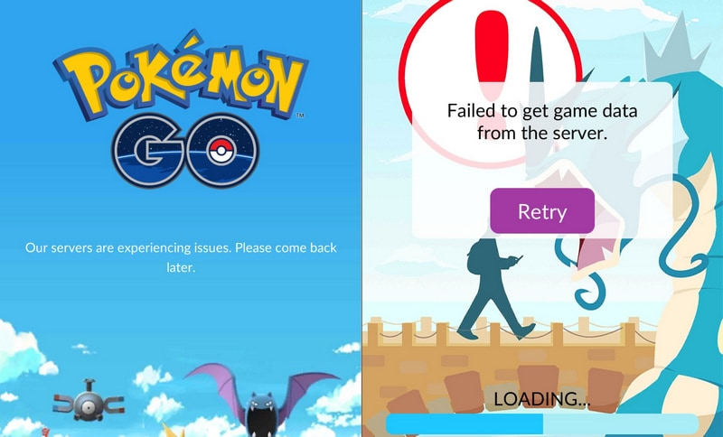 Pokémon Go server issue
