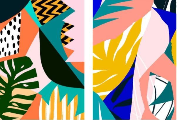 abstract geometric graphic design