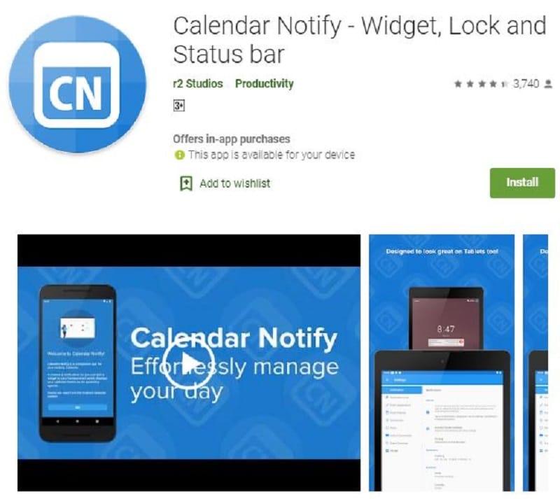 outlook calendar widget android