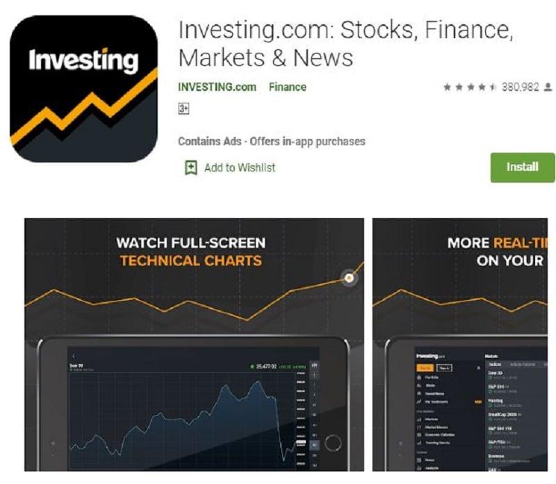 stock market widget android