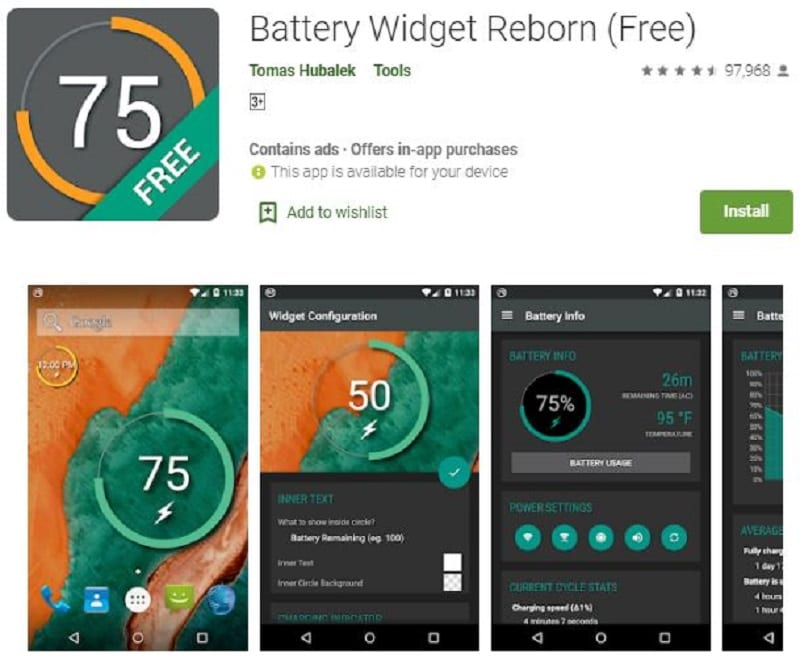 app widget for android