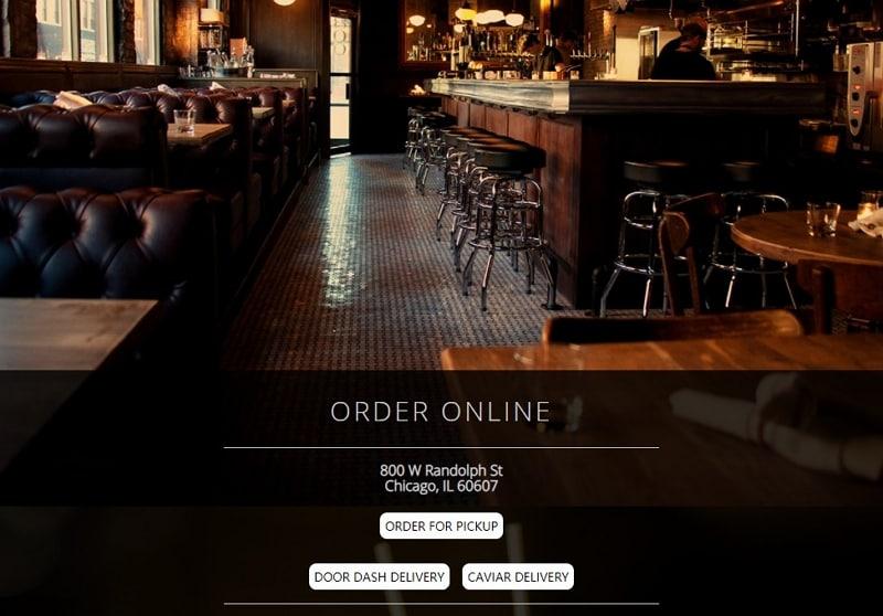 restaurant website design ideas