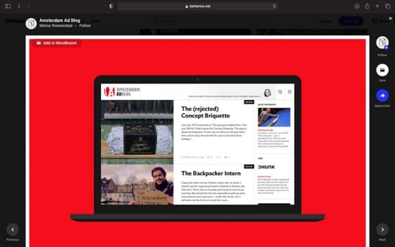 behance web design