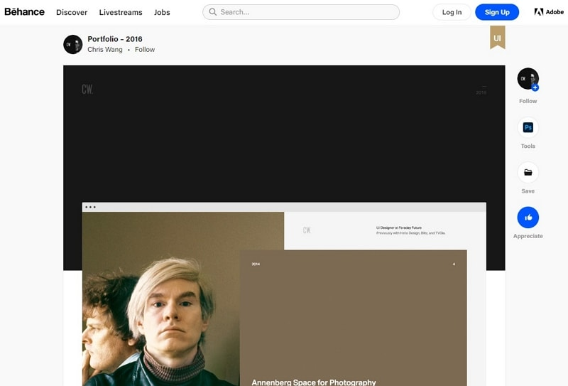 behance web design portfolio