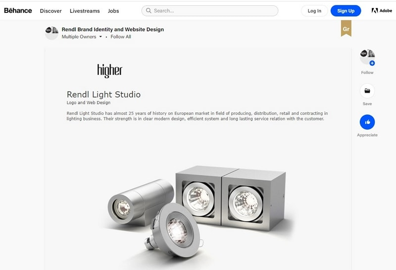 behance website design