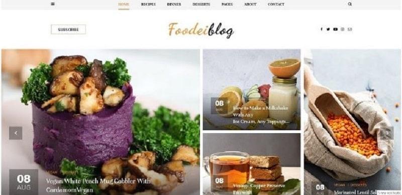blog site template