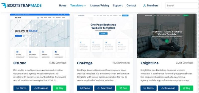 template web bootstrap free