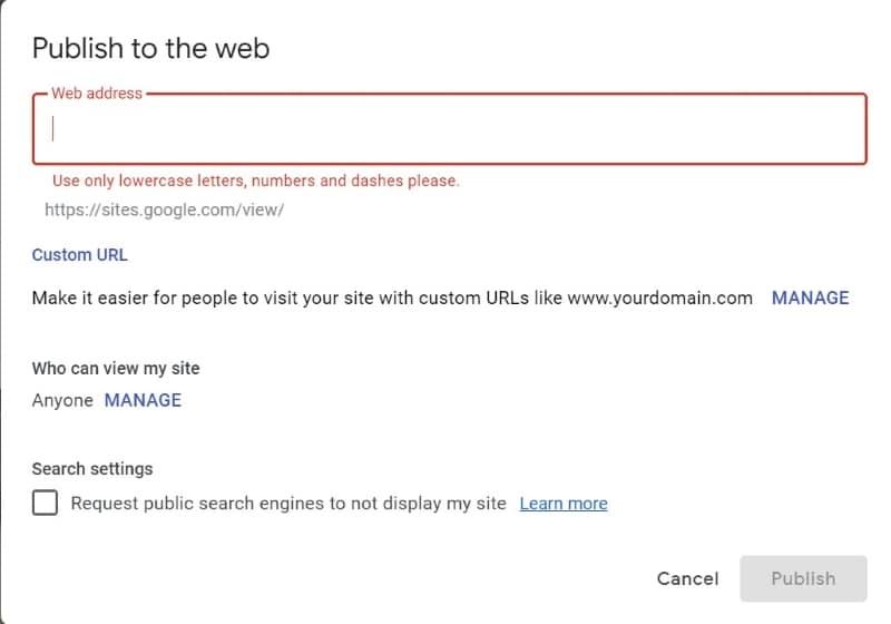 google build website