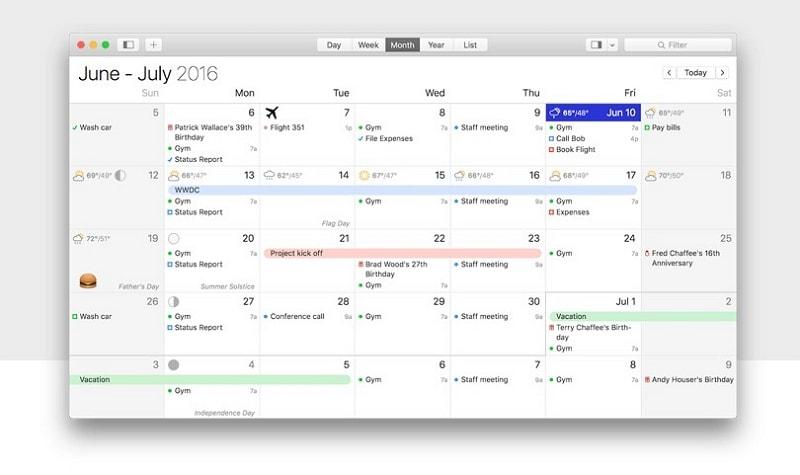 calendar design website
