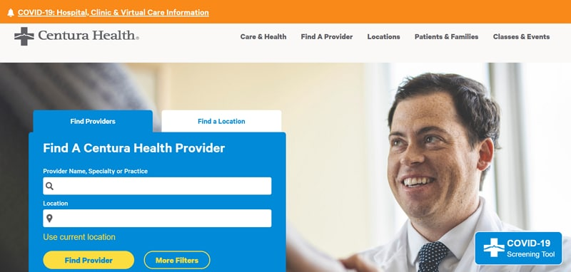 healthcare website design
