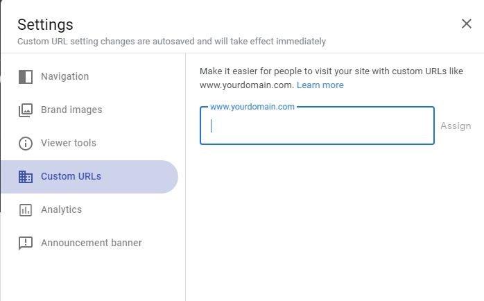 free google website