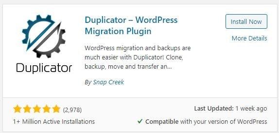 clone wordpress site