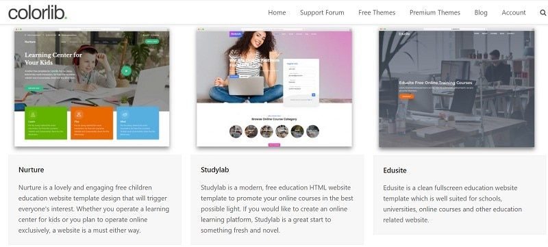 school website templates bootstrap