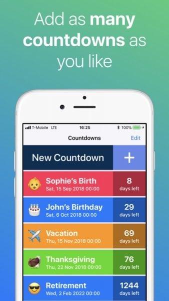 countdown widget ios 14