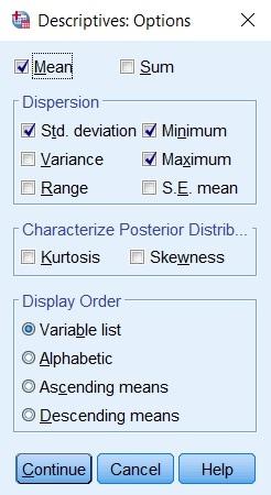 descriptive analysis spss