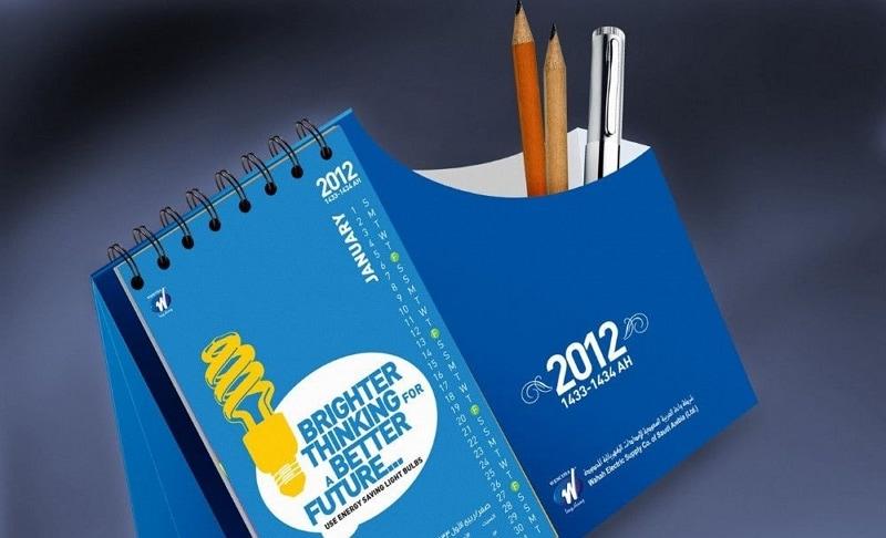 desk calendar design template