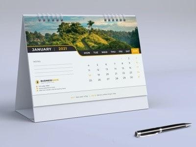 calendar desk design