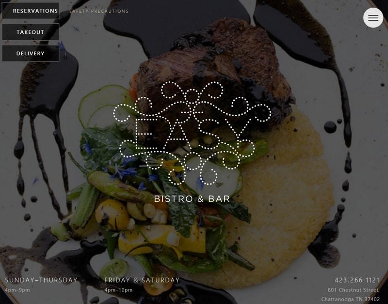 restaurant web page design