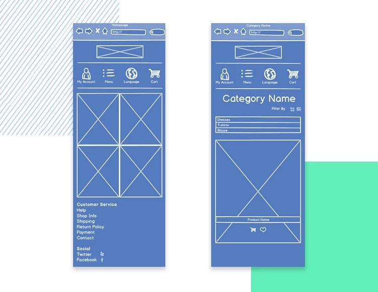 ecommerce wireframe examples