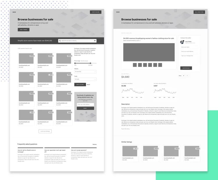ecommerce mobile app wireframe