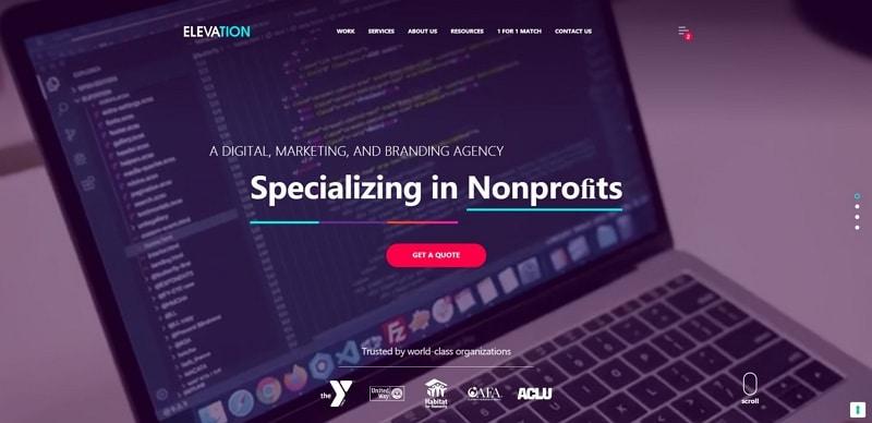 best nonprofit website design