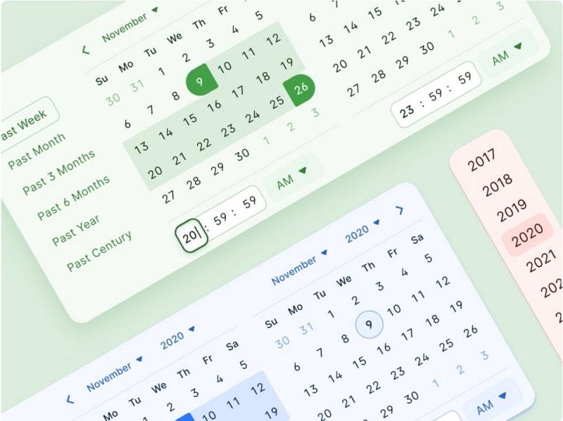 calendar ui kit figma