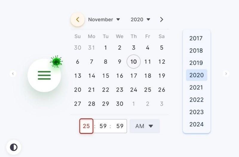 figma calendar ui