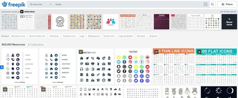icons free web