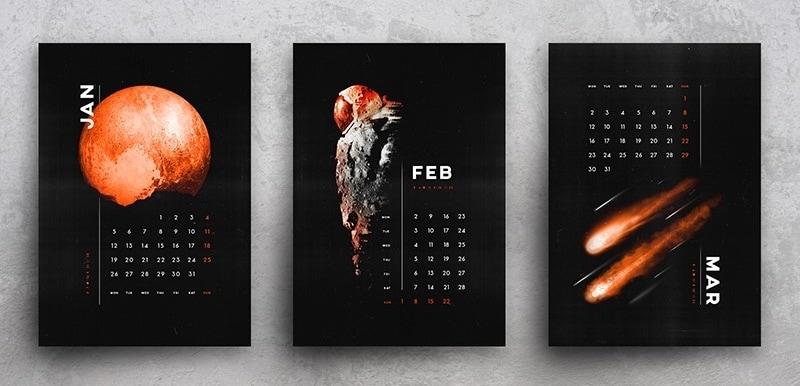 graphic calendar design